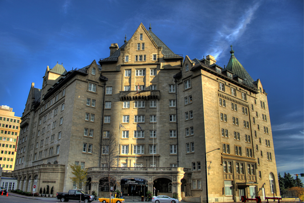 Hotel MacDonald is one of the many beautiful castles to visit in Canada